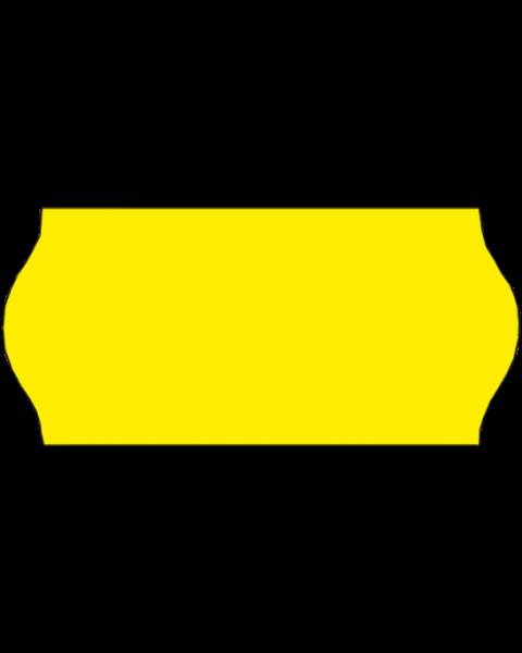 Etiketten, 26x12 mm, fluor-gelb, permanent