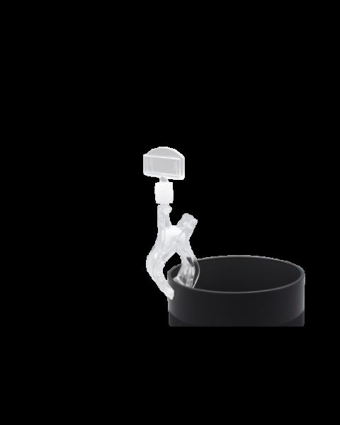 Multiclip gross mit Schilderhalter, transparent