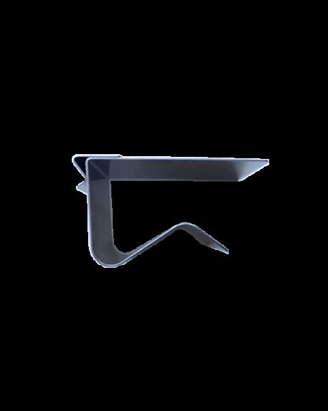 Pince en métal pour cartes en PVC pour les rayons et étagères horizontales 18-20 mm
