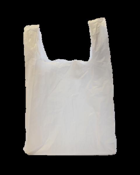1'000 pièces - Sacs en plastique blancs, 275+150x500x0.02 mm