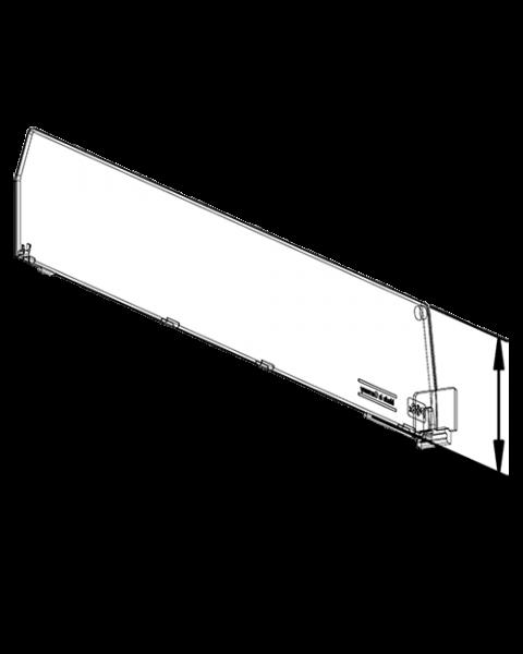 Séparateur D060, avec fixation avant, longueur 330 mm