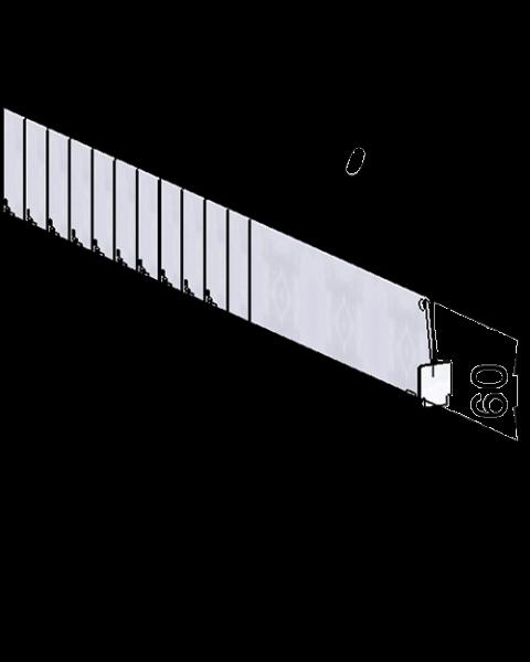Séparateur Vario D060, avec fixation avant, longueur 205-480 mm