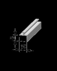 Rail adaptateur en T A002, avec rebord plié, 895 mm, adhésif