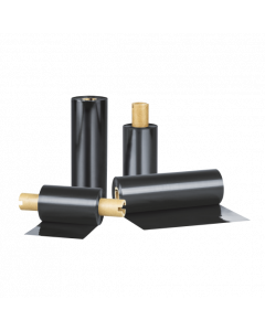 Thermo Transfer Farbband Standard Wachs/Harz, 110 mm x 110 m, schwarz