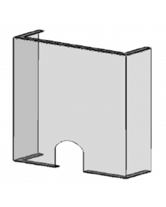 POS-T SpitProt UD 140, protection contre les postillons pour les points de vente et guichets avec ouverture/passage