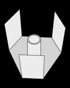 Turn-o-matic Montagehalterung für drei Anzeige-Displays