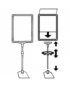 Rahmenständer DIN A4, grün