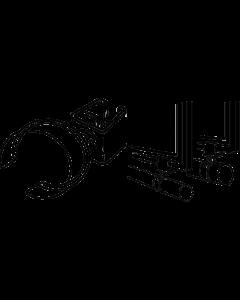 Rahmen-Rohrhalter drehbar, 22 mm