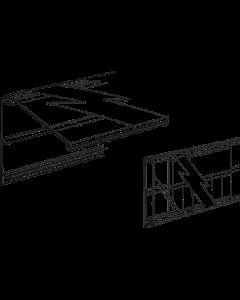 PromoSign Halteleiste geschlossen, 124 cm weiß