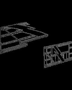 PromoSign Halteleiste 74 DB geschlossen, 100 cm, weiß