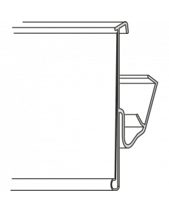 Regalpreisleiste, Klemmprofil, TLS 42, weiß/transparent, 42 x 985 mm