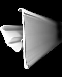 Regalpreisleiste, Klemmprofil, TLS 42, weiß/transparent, 42 x 1235 mm