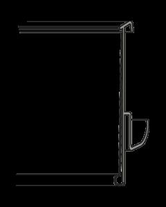 Regalpreisleiste, Klemmprofil, Tego 42 B, weiß/transparent, 42 x 985 mm
