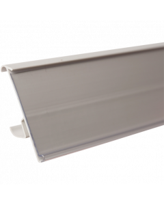 Regalpreisleiste, Klemmprofil, Tego 42 B, weiß/transparent, 42 x 1235 mm
