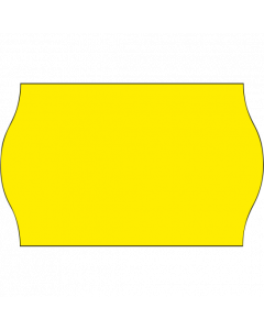Etiquettes, 26x16 mm, jaunes fluo, permanent