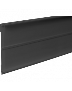 PromoSign Halteleiste geschlossen, 124 cm schwarz