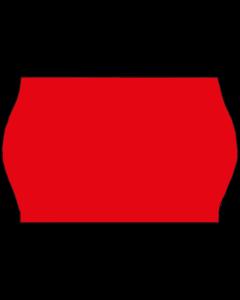 Etiquettes, 26x16 mm, rouges fluo, permanent