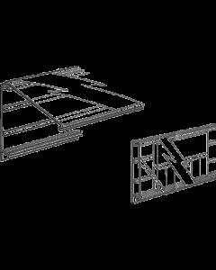 PromoSign Halteleiste 74 DB geschlossen, 124 cm, weiß