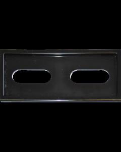Preisschild Rahmen schwarz