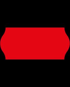 Etiquettes, 26x12 mm, rouges fluo, amovibles