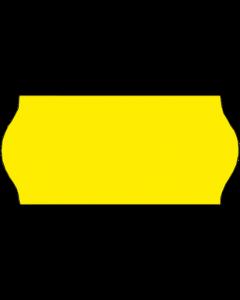 Etiquettes, 22 x12 mm, jaunes fluo, amovibles