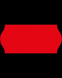 Etiquettes, 26x12 mm, rouges fluo, permanent