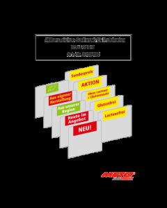 Aktionszeichen Sortiment für Preiskarten