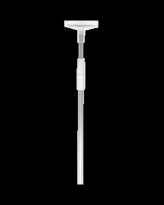 Aluminium-Teleskoprohr für Rahmenständer, 50/50, grau-silber