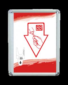 Turn-o-matic Hinweisschild für Standfuß FS902