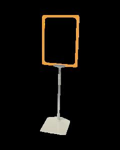 Rahmenständer DIN A4, gelb, Aluminium-Teleskoprohr