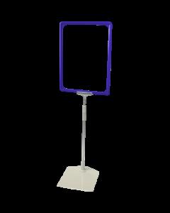 Rahmenständer DIN A4, blau, Aluminium-Teleskoprohr