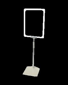 Rahmenständer DIN A4, weiß, Aluminium-Teleskoprohr