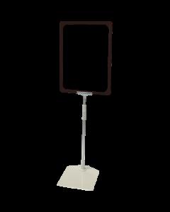 Rahmenständer DIN A4, schwarz, Aluminium-Teleskoprohr