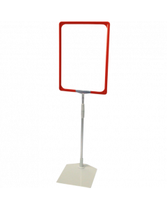 Rahmenständer DIN A4, rot, Aluminium-Teleskoprohr
