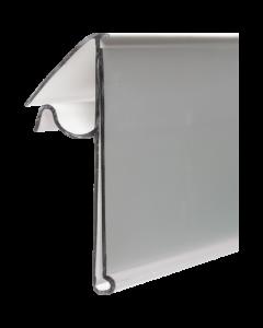 Regalpreisleiste, Klemmprofil, Drahtkorb 42, transparent, 42 x 1220 mm
