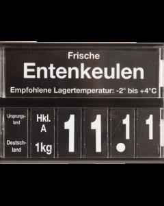 PromoSign Kassette Geflügel, schwarz