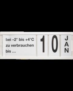PromoSign Ergänzungs-Kassetten Verbrauchsdatum, weiß