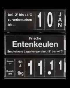 PromoSign Ergänzungs-Kassetten Verbrauchsdatum, schwarz