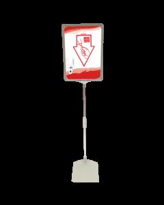 Turn-o-matic Tischständer mit Hinweisschild