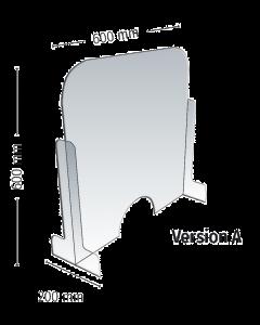 Écran de protection Meto Modèle A avec passage semi-circulaire