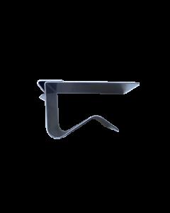Metallklammer zu PVC Karten für waagrechte Abstellflächen und Regalböden 18-20mm