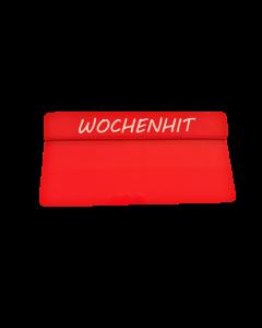 """PVC-Karten Reiter rot """"WOCHENHIT"""" gross"""