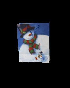 """100 pièces- Sacs avec impression """"Bonhomme de neige""""  270+130x330 mm"""