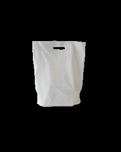 "500 pièces - Sacs LDPE ""Uni"" blanc, 380x450+50 Bdf.x0.05 mm"