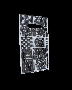 """1'000 Stück - Tragetaschen """"Quattro"""" schwarz 150x270+30 mm"""