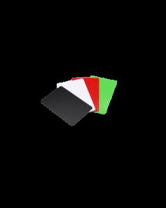 Cartes PVC noires brillantes, 0.76 mm, CR80 85.6x54 mm