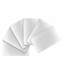 Cartes PVC blanches, brillantes, 0.5 mm, CR80 85.6x54 mm