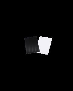 Cartes PVC noires brillantes, 0.5 mm, CR80 85.6x54 mm