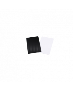 PVC Karten schwarz matt, 0.5 mm, CR80 85.6x54 mm