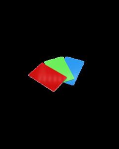 PVC Karten rot glanz, 0.5 mm, CR80 85.6x54 mm